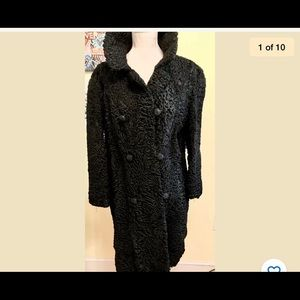 Vintage 1960's Black Persian Lamb Fur Coat